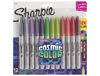 Officeworks Sharpie Fine Permanent Markers Cosmic 12 Pack