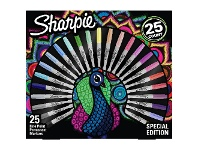 Officeworks Sharpie Fine Permanent Markers Assorted 25 Pack