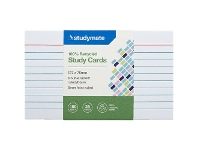Officeworks Studymate Study Cards Ruled 127 x 76mm White 25 Pack