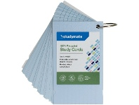 Officeworks Studymate Study Cards Pastel Blue 50 Sheets