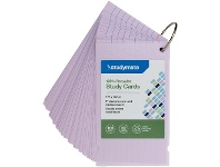 Officeworks Studymate Study Cards Pastel Purple 50 Sheets