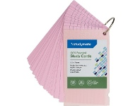 Officeworks Studymate Study Cards Pastel Pink 50 Sheets