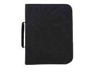 Officeworks Studymate A4 Nylon 2 Ring Zip Organiser Black w/Handle