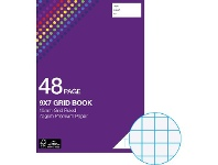 "Officeworks Studymate 9x7"" 70gsm 10mm Grid Book NSW/QLD 48 Page"