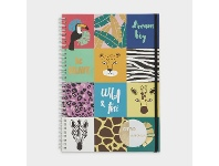 Officeworks Otto A4 200 Page Spiral Notebook Jungle