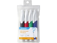Officeworks Studymate Grip Whiteboard Markers Bullet Assorted 4 Pack