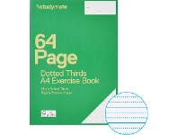 Officeworks Studymate A4 70gsm 14mm Dotted Thirds Exercise Book 64 Page