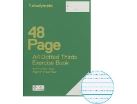 Officeworks Studymate A4 70gsm 18mm Dotted Thirds Exercise Book 48 Page