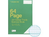 Officeworks Studymate A4 70gsm 18mm Dotted Thirds Exercise Book 64 Page