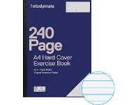 Officeworks Studymate A4 70gsm 8mm Ruled Hardcover Exercise Book 240 Page