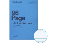 Officeworks Studymate A4 70gsm 8mm PP Cover Exercise Book 96 Page Blue