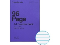 Officeworks Studymate A4 70gsm 8mm PP Cover Exercise Book 96 Page Purple