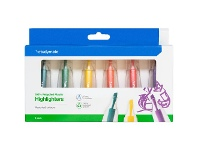 Officeworks Studymate Greener Choice Highlighters 6 Pack Pastel