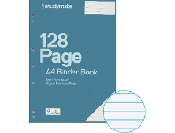 Officeworks Studymate A4 70gsm 8mm Ruled Binder Book 128 Page