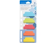 Officeworks Studymate Page Markers 20x50mm Assorted 5 Pack