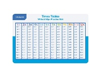 Officeworks Studymate Times Tables Write & Wipe Practise Mat