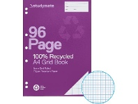 Officeworks Studymate A4 70gsm Recycled 5mm Grid Book 96 Page