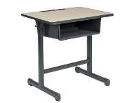Officeworks Studymate Young School Desk with Storage Section Oak/Grey