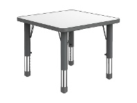 Officeworks Studymate Kids Square Height Adjustable Table White and Grey