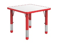 Officeworks Studymate Kids Square Table White and Red