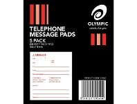 Officeworks Olympic Telephone Message Pads 5 Pack