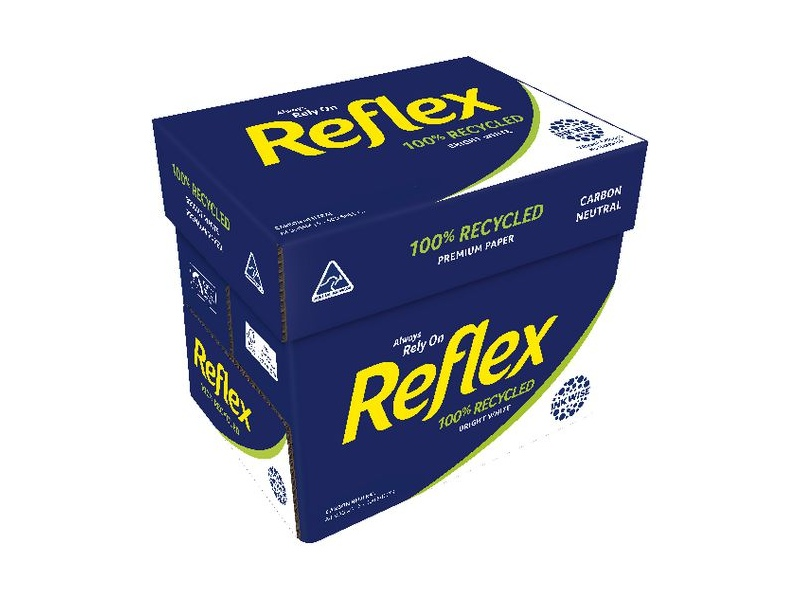 Reflex 100% Recycled Carbon Neutral 80gsm A4 Paper Carton