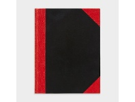 Officeworks Spirax A5 Red and Black Notebook 200 Page