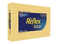 Officeworks Reflex Colours 80gsm A4 Copy Paper Gold 500 Sheets