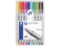 Officeworks Staedtler Triplus 0.3mm Fineliners 334 Assorted 10 Pack