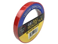 Officeworks Stylus PVC Bag Sealing Tape Red 12mm x 66m