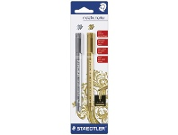 Officeworks Staedtler Permanent Markers Metallic Gold/Silver 2 Pack