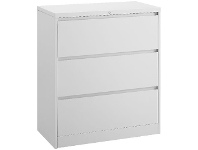 Officeworks J.Burrows Matrix 3 Drawer Lateral Filing Cabinet White