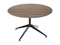 Officeworks Stilford 1200 Round Meeting Table in Walnut