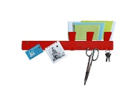Officeworks Three By Three Magnetic Strip Bulletin Board Red