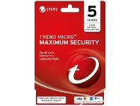 Officeworks Trend Micro Maximum Security 5 Device 1 Year Card