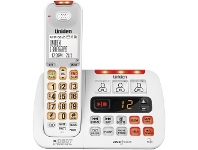 Officeworks Uniden Sight and Sound Enhanced Cordless Phone SSE45W