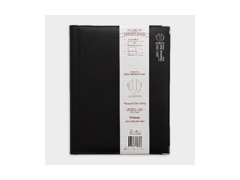 Upward A4 Week to View FY21/22 Deluxe Diary Black