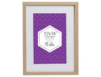 """Officeworks Lifestyle Brands Promenade Frame 12 x 16"""" with 8 x 12"""" Opening Oak"""