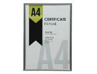 Officeworks Lifestyle Brands A4 Certificate Frame Silver
