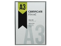 Officeworks Lifestyle Brands A3 Certificate Frame Silver