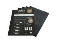 Officeworks Lifestyle Brands NCL A4 Self-Adhesive Photo Album Refills 5 Pack Black