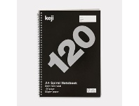 Officeworks Keji A4 Spiral Notebook 120 Page