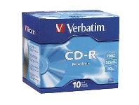 Officeworks Verbatim CD-R 700MB 52x High Speed Jewel Case 10 Pack