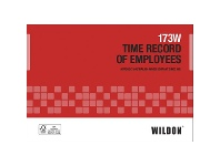 Officeworks Wildon Time Record of Employees Book