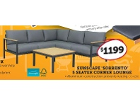 Sunscape Sorrento 5 Seater Corner Lounge