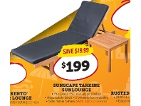 Sunscape Tarkine Sunlounge