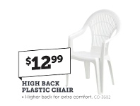 Stratco High Back Plastic Chair