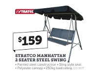 Stratco Stratco Manhattan 2 Seater Steel Swing
