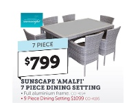 Stratco Sunscape Amalfi 7 Piece Dining Setting