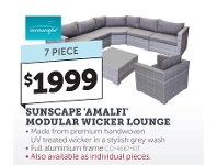 Sunscape Amalfi Modular Wicker Lounge